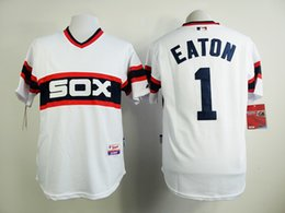 64fd396d9 Throwback Stitched Baseball Jersey Chicago White Sox jerseys 1 Adam Eaton  14 Paul ...