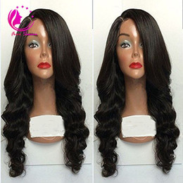 $enCountryForm.capitalKeyWord NZ - 100% brazillian body wave human hair Lace Front wig & glueless full lace wig full bangs for black women with baby hair