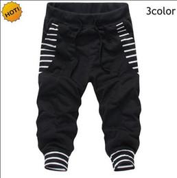 Baggy jersey pants online shopping - Fashion HIp Hop Big Pocket Stripe Design Beam Foot Trousers Bermuda Masculina Drawstring Street Baggy Harem Pants Cropped Pants