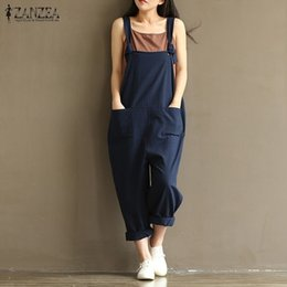 3cd8b1c98f Discount oversized jumpsuits - x201711 ZANZEA 2017 Casual Rompers Womens  Jumpsuits Sleeveless Backless Casual Loose Solid