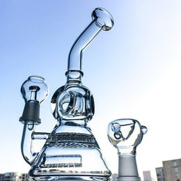 Mini Beaker Base Glass Water Bong With Inline Perc & Honeycomb Perc Two Function Alien Recycler Oil Rigs WP176 from mini beakers manufacturers