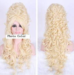 anime picture NZ - 100% Brand New High Quality Fashion Picture full lace wigs>Halloween Marie Antoinette 80CM Long Beige Anime Cosplay Party Hair Wig