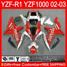 Wholesale fortuna for sale – custom 8gifts Body For YAMAHA YZFR1 YZF1000 YZF R1 Fortuna red NO58 YZF YZF YZF R YZF R1 Fortuna white Fairing