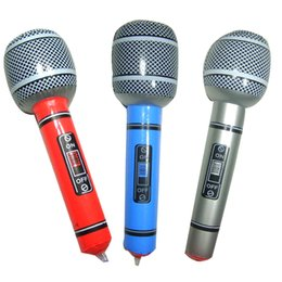 $enCountryForm.capitalKeyWord UK - Inflatable Simulation Microphone Receiver Activity Props Karaoke Bar Toy Color Random Pvc Game Play Birthday Party Child Toys