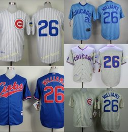 99dfc70bf Chicago Cubs 26 Billy williams Home Away Baseball Jersey Blue Gray Green  White ...
