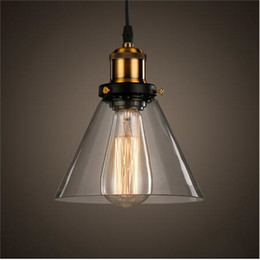 new vintage clear glass pendant light copper hanging lamps e27 110 220v light bulbs for home decor restaurant luminarias abajour inexpensive modern clear - Clear Glass Pendant Light
