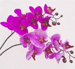 $enCountryForm.capitalKeyWord Canada - Real Touch Orchid 7 Heads Latex Orchids Fake Phalaenopsis lighter purple for Wedding Centerpieces Home Party Decorative Flowers