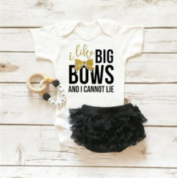 baby girls black dress set Australia - Baby Girl Clothes Toddlers Romper Set Girls Tutu Dress White Cotton Rompers Black Lace Underpants Ruffle Bloomers Shorts Newborn Clothing