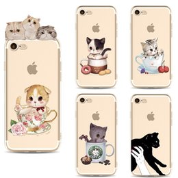 $enCountryForm.capitalKeyWord NZ - Cute Cartoon Cat TPU Painted phone case For iphone 5S 6 6S 7 8 Plus Xs Max Xr Samsung Galaxy S7 Edge S8 S9 Ultra Thin Silicone Cover Cases
