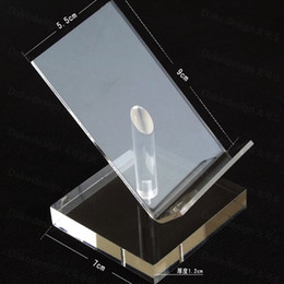 Wholesale Acrylic Mobile Cell Phone Display Stand Holder rotatable pallet tray shallow desktop showing display stand