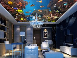 $enCountryForm.capitalKeyWord NZ - jiadou European Style Underwater World fish 3d Stereoscopic Wallpaper For Kids Room