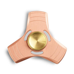 Chinese  Wholesale Fidget Hand Spinner Triangle Torqbar Brass Puzzle Finger Toy EDC Focus Fidget Spinner ADHD Austim manufacturers