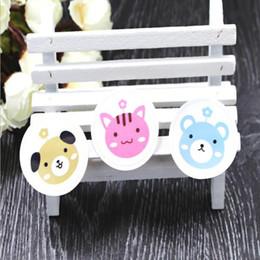 Animal Cake Designs Canada - Cat Dog and Bear Design Sticker Food Seals Gift stickers For Wedding Gift Cake Baking Sealing Sticker