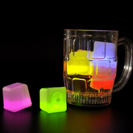 Glow Party Decorations Canada - Christmas Decoration Flash Ice LED Party Lights Color Changing LED ice cubes Glowing Ice Cubes Blinking Flashing Novelty Party Supply JF-846