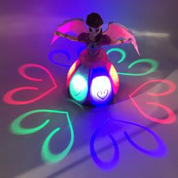 paper stuffing 2018 - New 360 degree electric universal Dancing Princess, light music, revolving angel, children's toys cheap paper stuff