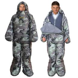 $enCountryForm.capitalKeyWord Canada - Camo Sleeping Bags Outdoor Human Sharp Sit Any Sleeping Position Camping Tourist Ultralight Compression Walking Sleeping Bag