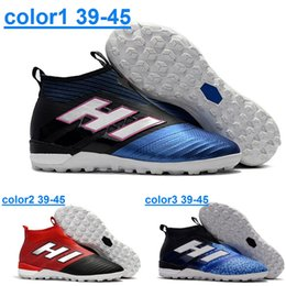 Running Shoes Cheap Factory Canada - New arrival ACE Tango 17+ Purecontrol TF Men's Outdoor Lawn Soccer Shoes High quality cheap price Factory Outlet Football Shoes