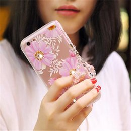 Types Iphone Cases Canada - 2017 wonderful and beautiful Multi-type cell phone cases Creative drill Lanyard phone cases Silicone back cover phone cases