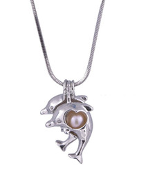 Gold dolphin pendant necklace online shopping gold dolphin pendant 18kgp pearl cage pendants double dolphin pearl gem beads cage lockets wish pearl pendant mountings for diy fashion necklace jewelry mozeypictures Choice Image