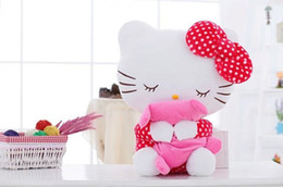 $enCountryForm.capitalKeyWord Canada - 40CM High Quality Kids Lovely Hello Kitty Plush Toys Hug Soft Pillows KT Cat Stuffed Dolls Girls Toys Gift Mini Animal Dolls