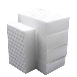 Chinese  10*7*3cm 10pcs High quality double compressed kitchen cleaning melamine sponge magic eraser cleaning accessory supplier for dish washing car manufacturers