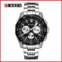 Power Reserve Men Sport Watches NZ - Original CURREN Fashion Men Watch Adjustable Fulll Stainless Steel Watchband Watches Men's Sport Quartz Wrist Out050