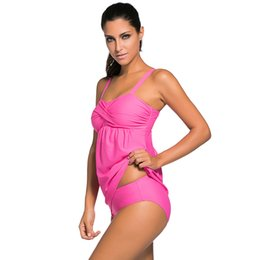 Bikinis Rose Clair Pas Cher-New Beach Vacation N0-Steel Ring Bikini Maillot de bain Rassembler Sexy Split Swimsuit Taille Plus S-3XL 6 COULEURS PINK / BLACK / LIGHT BLUE / DARK BLUE / ROSE RE