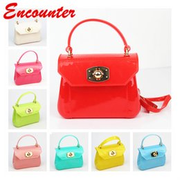 $enCountryForm.capitalKeyWord NZ - Encounter Children's Fashion PVC handbags Kids Brand Mini Totes Girls Small Shoulder Bags Candy Colors totes for toddlers lovely purse EN024