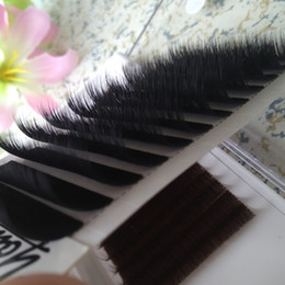 mixed tray eyelash UK - Real Volume Eyelash Extensions Mixed fans Lash Eyelashes 3D-6D 12 rows tray 0.07 Volume Fans Youcoolash Factory Big Promotion