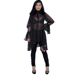 $enCountryForm.capitalKeyWord NZ - 3 colors plus size tops 2017 summer fashion ladies mid lace dress ruffled loose sexy women clothing solid pink white black XD540