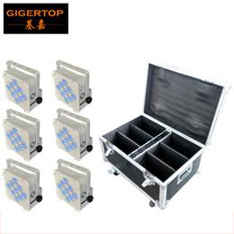 TIPTOP Charging Roadcase 6XLOT 9x18W 6in1 RGBWA UV Battery Wireless LED Par Light ISO Luminair DMX512 Stage lighting 90V-240V TP-B01 on Sale