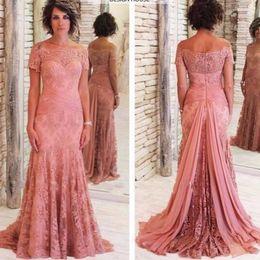 $enCountryForm.capitalKeyWord NZ - Modest designer mother of the bride dresses for weddings short sleeve boat neck mother of groom dresses plus size cheap evening gown custom