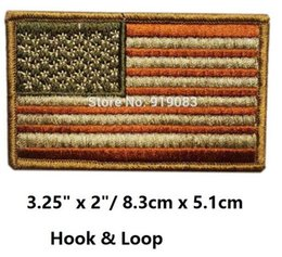Usa Flag Clothing Canada - Vintage USA US AMERICAN UNITED STATES FLAG ARMY PATCH UNIFORM MILSPEC MULTICAM Hook & Loop Patch badge for clothing cap bags hat