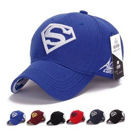 Chapeaux Snapback Pour Les Filles Pas Cher-Hot Selling Kids Hip Hop Hats Flat Edge Ball Caps Sports Bboy Snapback Casquettes de baseball réglable Superman Hats Cool Boys Girls
