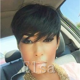 $enCountryForm.capitalKeyWord NZ - Fashion style short human hair wigs full none lace front wigs for black women factory price cheap straight hair wigs