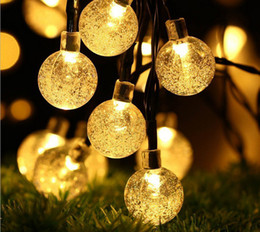 moon curtain string lights NZ - Hot hot style LED solar ball light string of Christmas decorations Holiday party celebration garden decoration