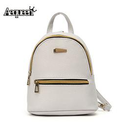 Wholesale- AEQUEEN Leather Backpack Women Student School Bag Backpacks For Teenage  Girls Cute Rucksack Female Mini Book Bag Pack cecf9a88c3a9c