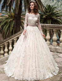 vintage full lace wedding dresses with long sleeves 2017 robe de mariage bridal dress couture ball gowns fairytale princess plus size