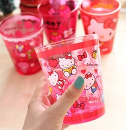 Wholesale X Random Design Hello Kitty Size CM Quality Acrylic Face Cup Mugs Drink Cup MUG Water Cup Mug