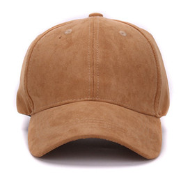 $enCountryForm.capitalKeyWord UK - Wholesale- Plain Suede baseball caps with no embroidered casual dad hat strap back outdoor blank sport cap and hat for men and women