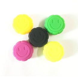 slick oil NZ - Smiley Face Silicone Jars Dab Wax Container Pumpkin Shape Oil Slicks Container 1000 Pcs Lot