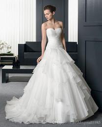 Pearl Net Dress Canada - 2017 New Detachable Beaded Strapless Sheath A Line Wedding Dresses Net Yarn Flounced Trailing Wedding Bride Chapel Wedding Dress Plus Size