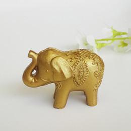 Счастливый Золотой слон место держатели карт таблица имя держателя свадьбы Центральным Золотой тематический партия выступает DHL Бесплатная доставка