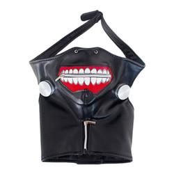 Tokyo Ghoul Masks UK - Wholesale-High Quality Clearance Tokyo Ghoul 2 Kaneki Ken Mask Adjustable Zipper Masks PU Leather Cool Mask Blinder Anime Cosplay