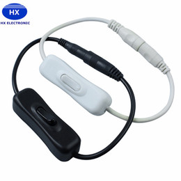 12v dc power cables 2019 - Hot Sale 2.1x5.5mm for DC In Line Power Cable Connector With ON OFF Switch For LED Strip Light 12V 2A discount 12v dc po