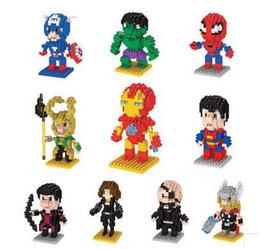 $enCountryForm.capitalKeyWord Australia - Building Blocks Super Heroes Model Diamond Blocks The Avengers 3D Puzzle American Captain Iron Man Kids Toys Educational DIY Toys
