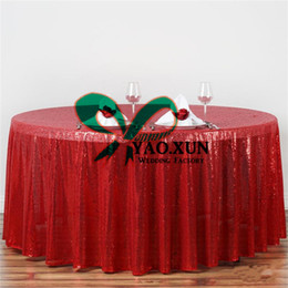 cheap round polyester table cloths NZ - Hot Sale Round Sequin Table Cloth \ Cheap Wedding Tablecloth Free Shipping