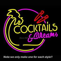 Discount neon bar beer lights 2018 neon bar beer lights on sale discount neon bar beer lights wholesale cocktails and dreams bar neon light signs glass tube mozeypictures Images
