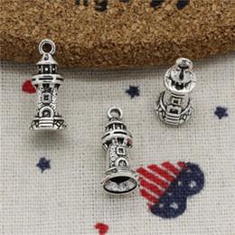 Lighthouse Necklace NZ - Wholesalecs- 137pcs Charms castle lighthouse 20*9mm Pendant,Vintage Tibetan Silver,For DIY Necklace&Bracelets Jewelry Accessories
