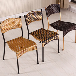 Outdoor Rattan Chair Sofa Furniture Set Outdoor Garden Terrace Rattan Chair Fashion Creative Leisure Wicker Furniture